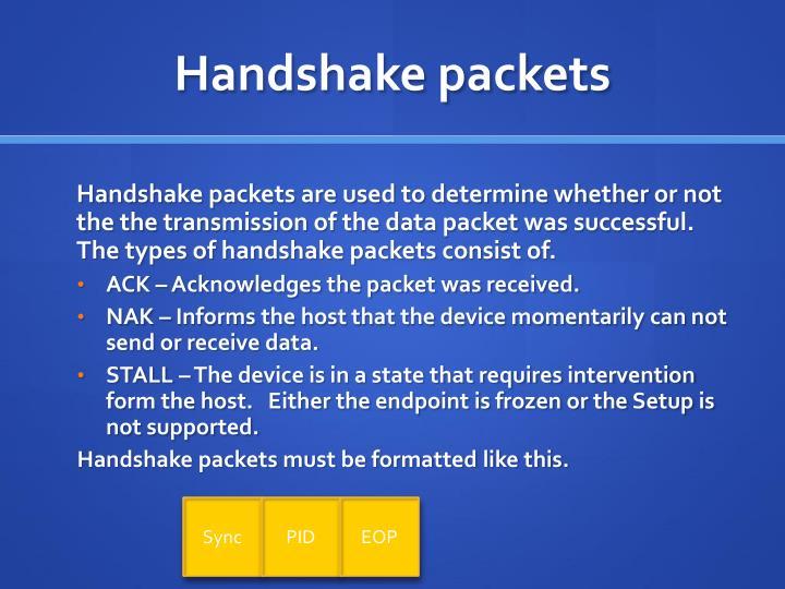 Handshake packets