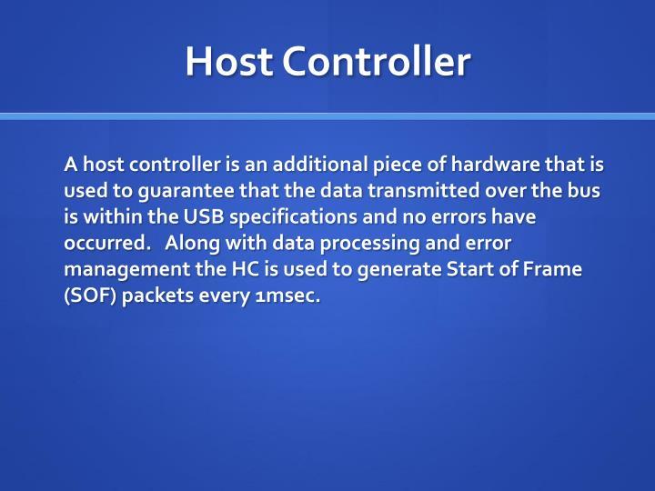 Host Controller