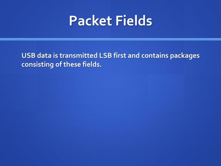 Packet Fields
