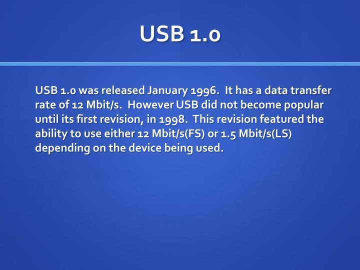 Usb 1 0