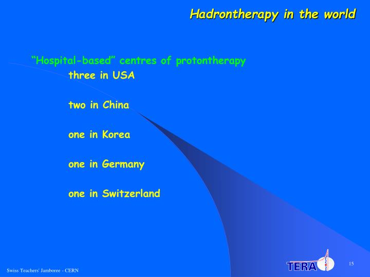Hadrontherapy in the world