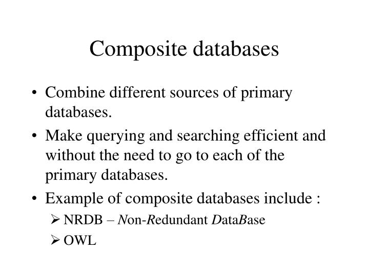 Composite databases