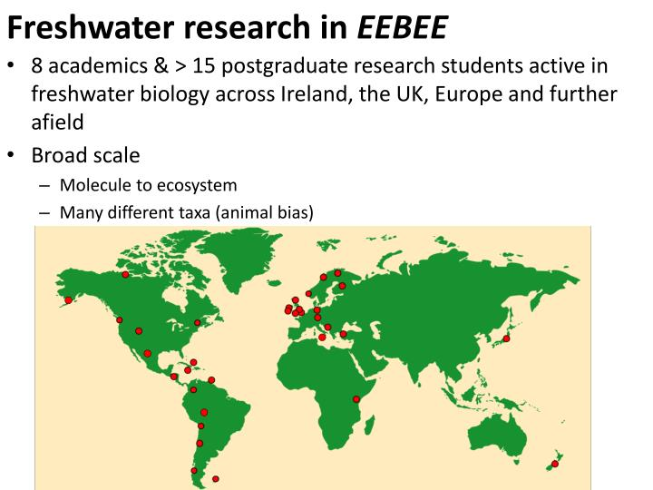 Freshwater research in