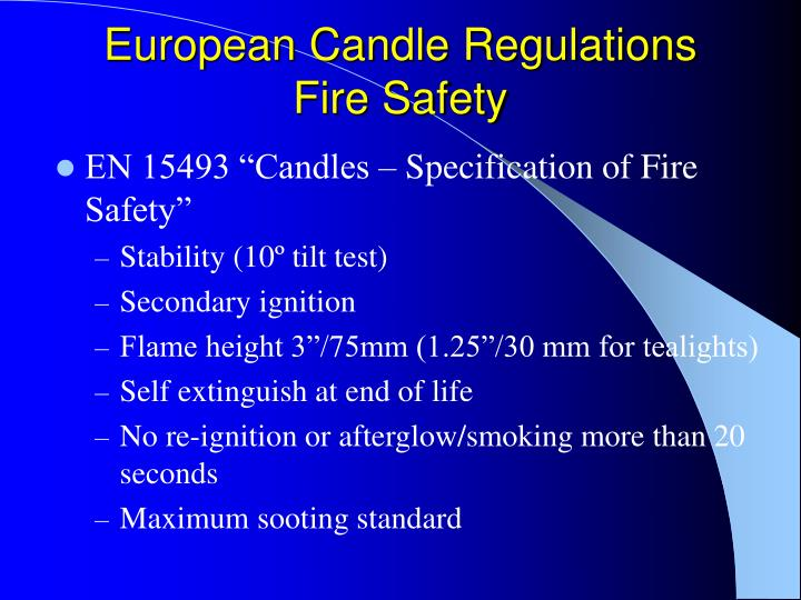 European Candle Regulations