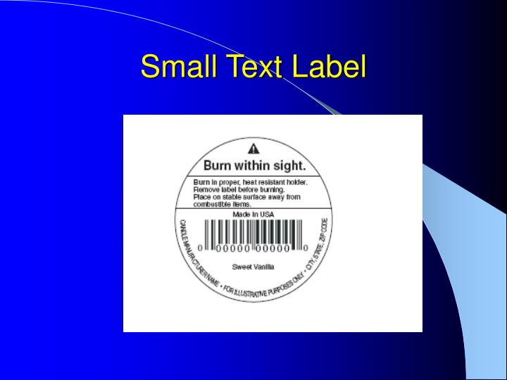 Small Text Label