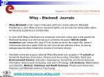 wiley blackwell journals