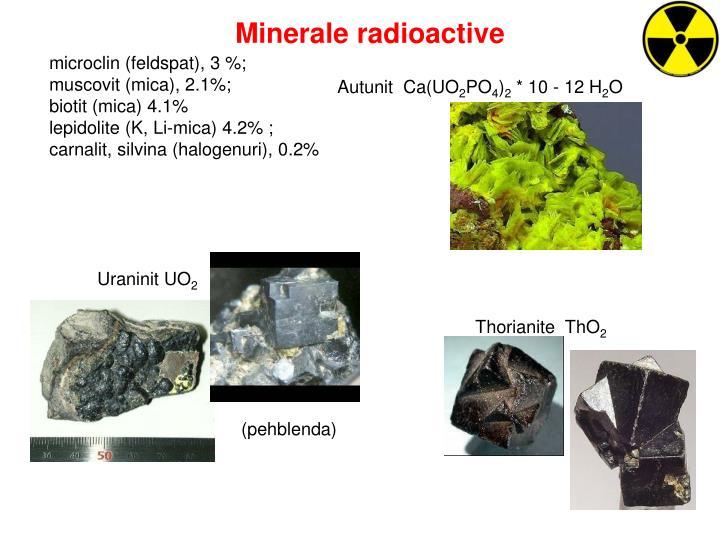 Minerale radioactive