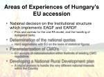 areas of experiences of hungary s eu accession