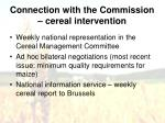 connection with the commission cereal intervention