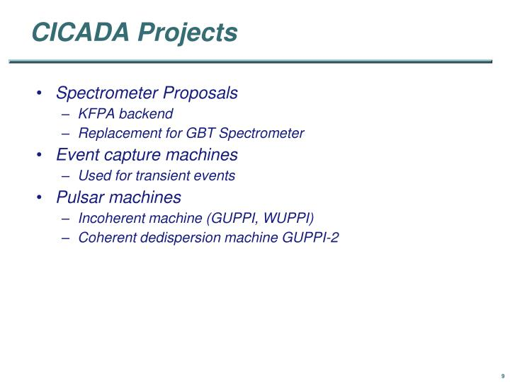 CICADA Projects