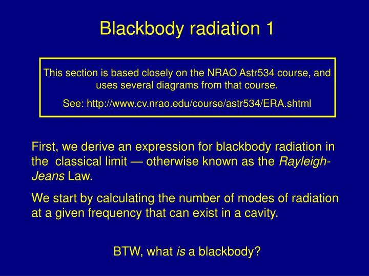 Blackbody radiation 1