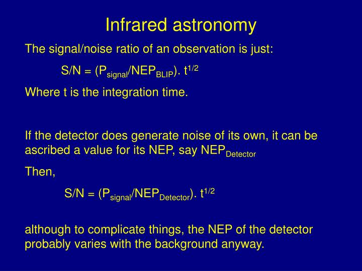 Infrared astronomy