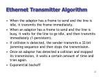ethernet transmitter algorithm