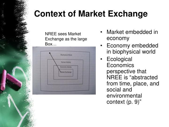 Context of Market Exchange