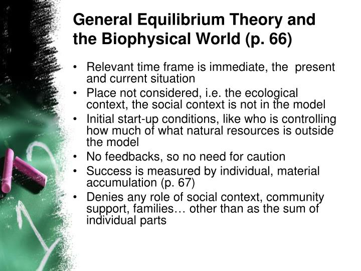 General Equilibrium Theory and the Biophysical World (p. 66)