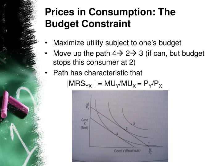 Prices in Consumption: The Budget Constraint