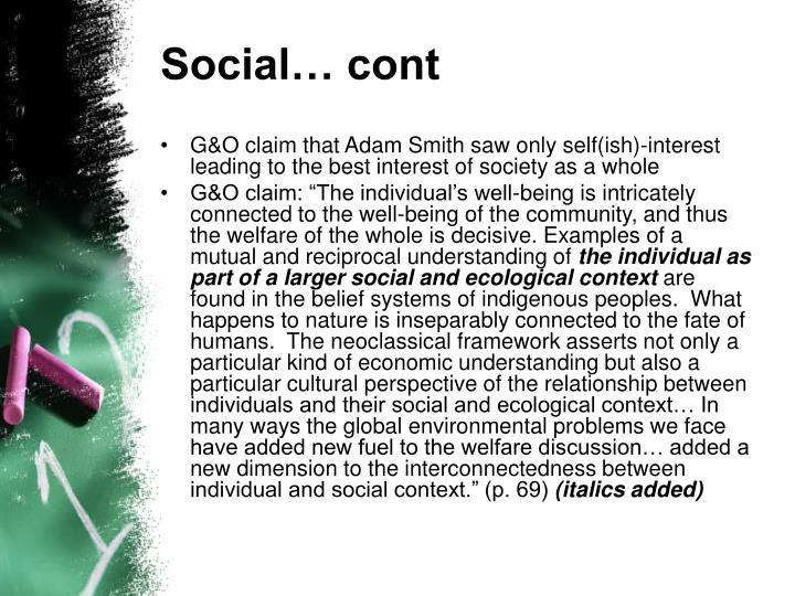 Social… cont