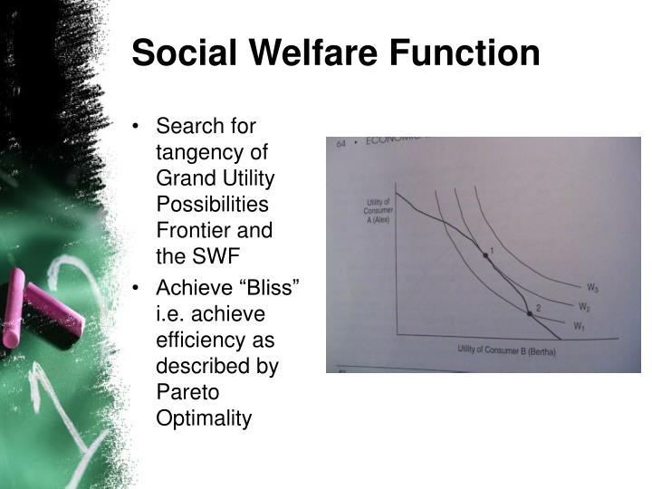 Social Welfare Function