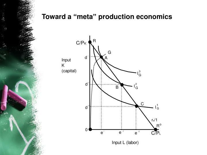 "Toward a ""meta"" production economics"