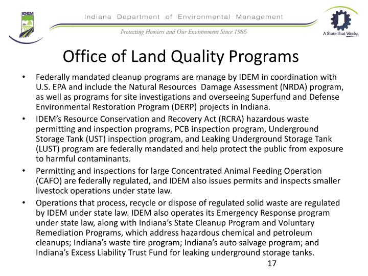Office of Land Quality Programs