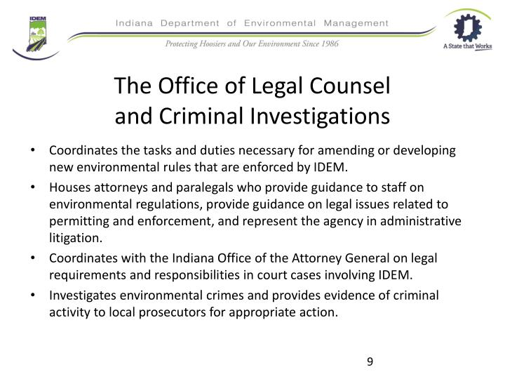 The Office of Legal Counsel