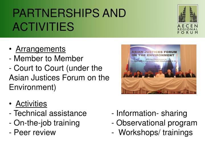 PARTNERSHIPS AND ACTIVITIES