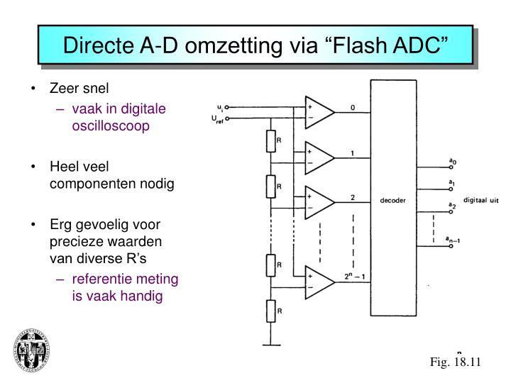 "Directe A-D omzetting via ""Flash ADC"""