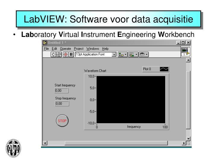 LabVIEW: Software voor data acquisitie