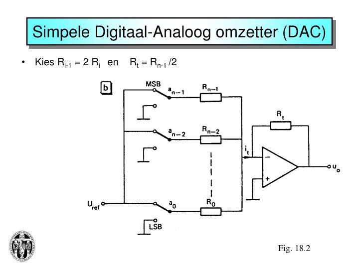 Simpele Digitaal-Analoog omzetter (DAC)