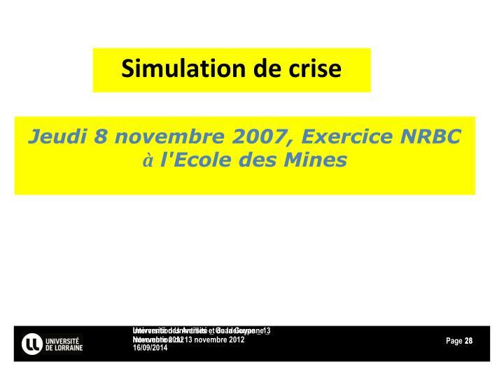 Simulation de crise