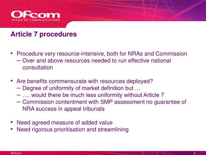 Article 7 procedures