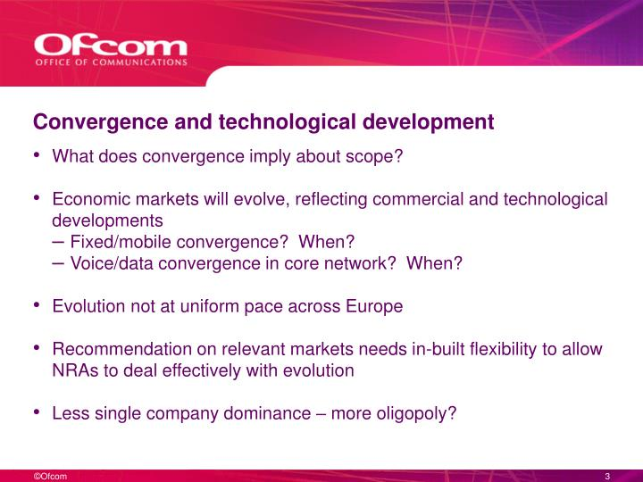 Convergence and technological development