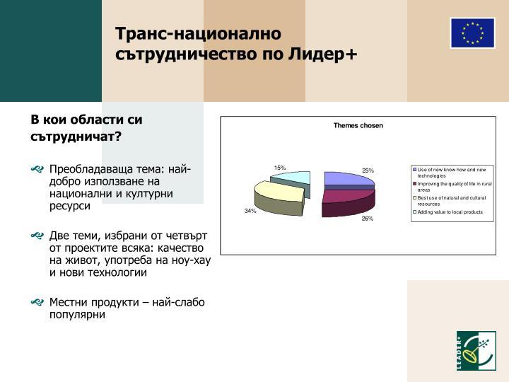 Транс-национално сътрудничество по Лидер