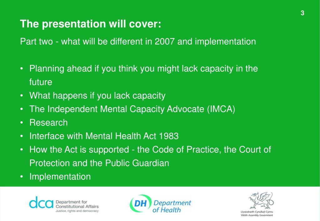 PPT - Mental Capacity Act 2005 PowerPoint Presentation ...