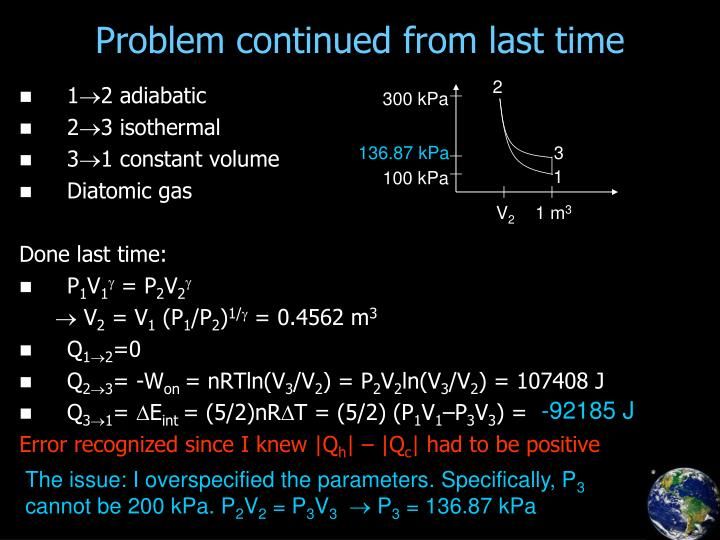 Problem continued from last time