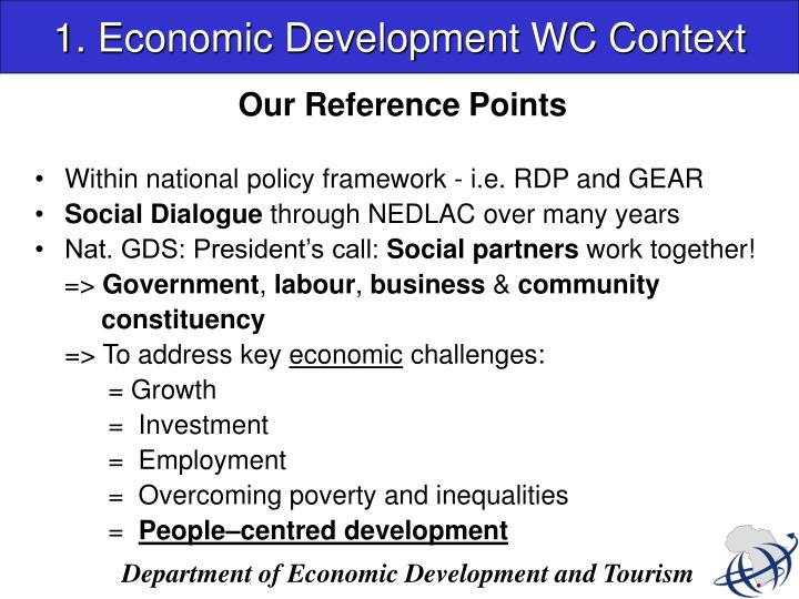 1 economic development wc context