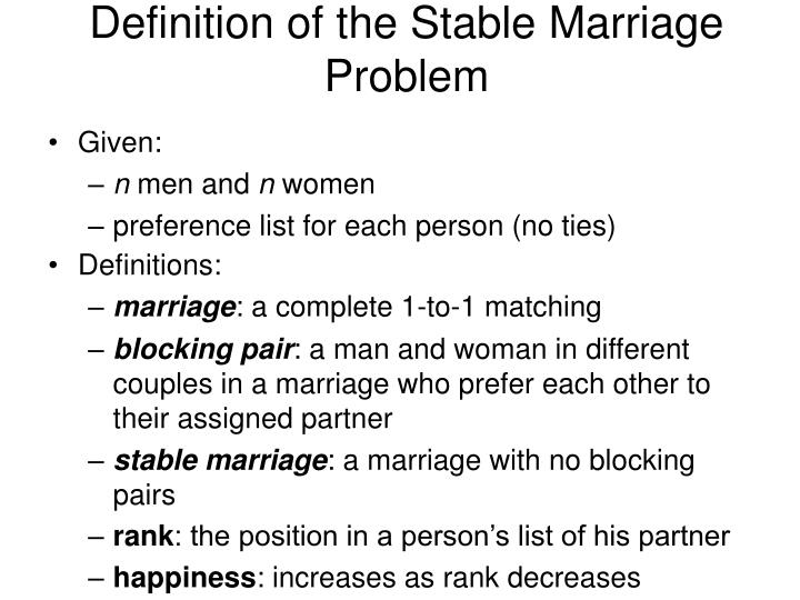 the stable marriage problem pdf