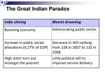 the great indian paradox