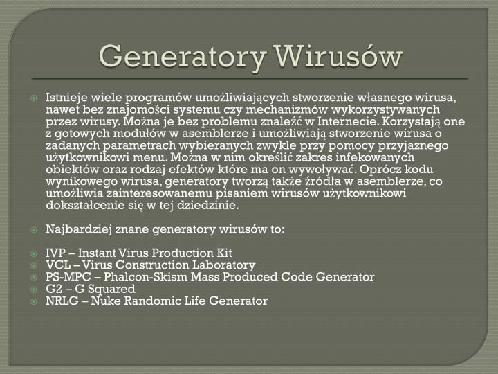 Generatory Wirusów