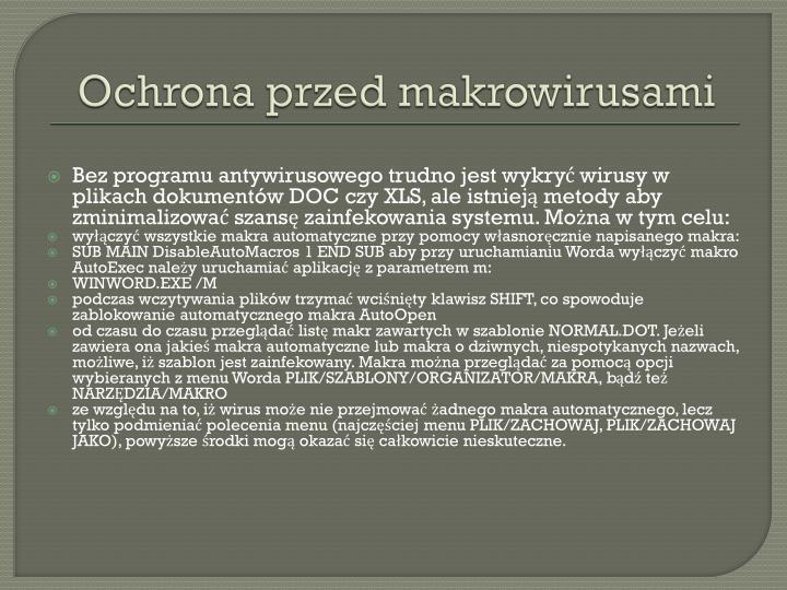 Ochrona przed makrowirusami