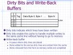 dirty bits and write back buffers