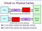 virtual vs physical caches