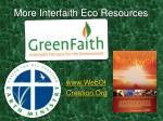 more interfaith eco resources