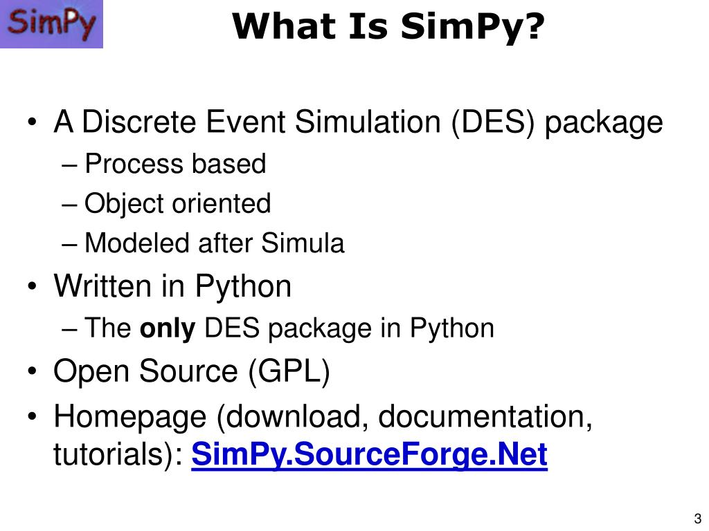 PPT - Advanced Systems Simulation Capabilities in SimPy