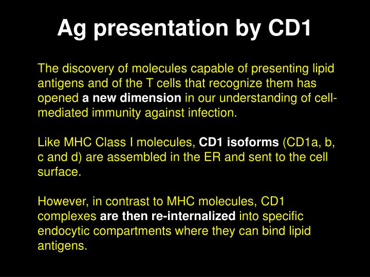 Ag presentation by CD1