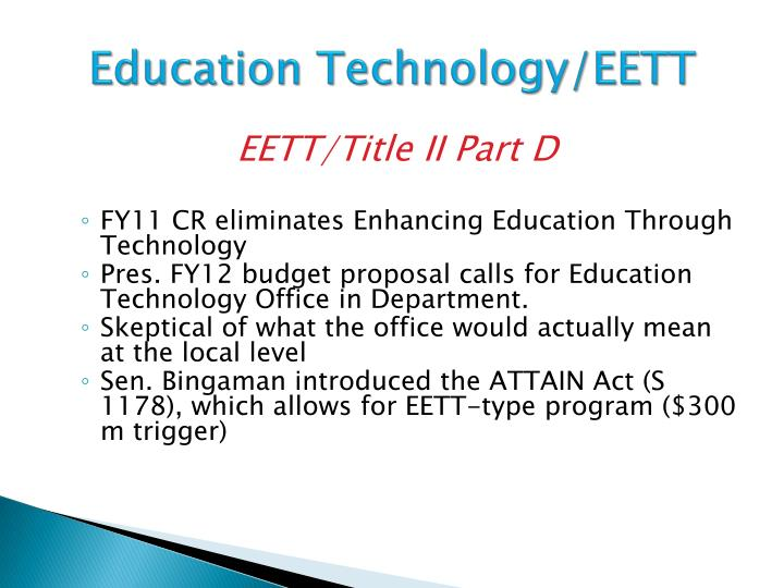 Education technology eett