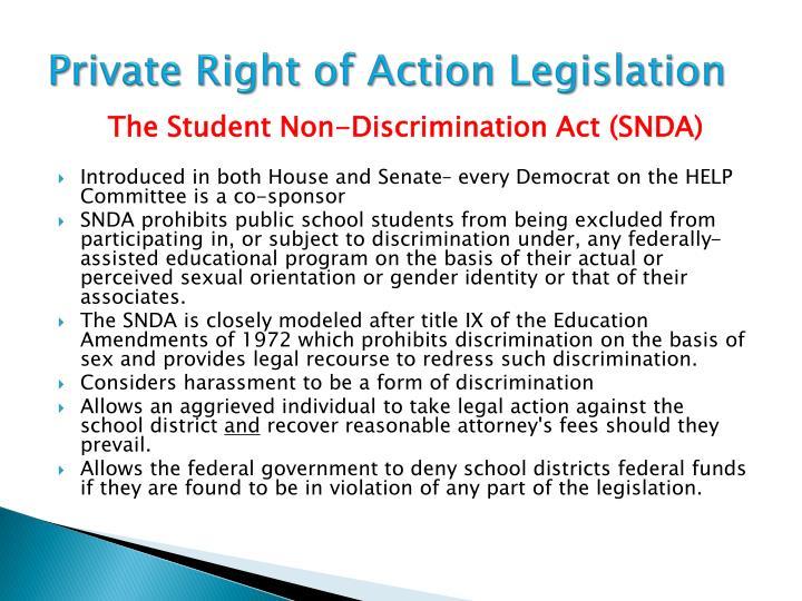 Private Right of Action Legislation