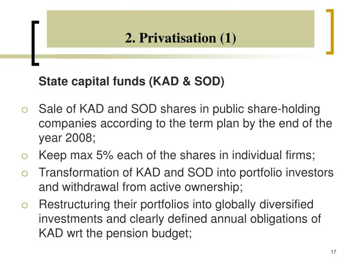 2. Privatisation (1)