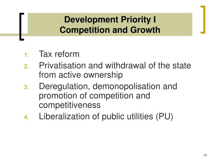 Development Priority I