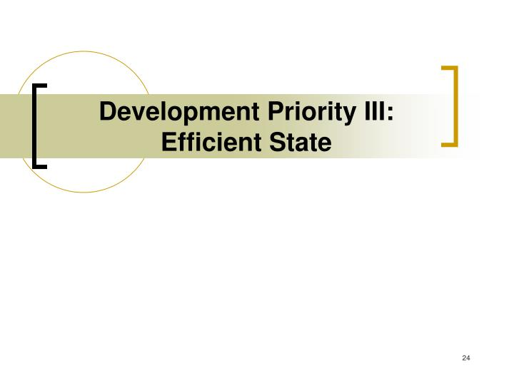 Development Priority III: